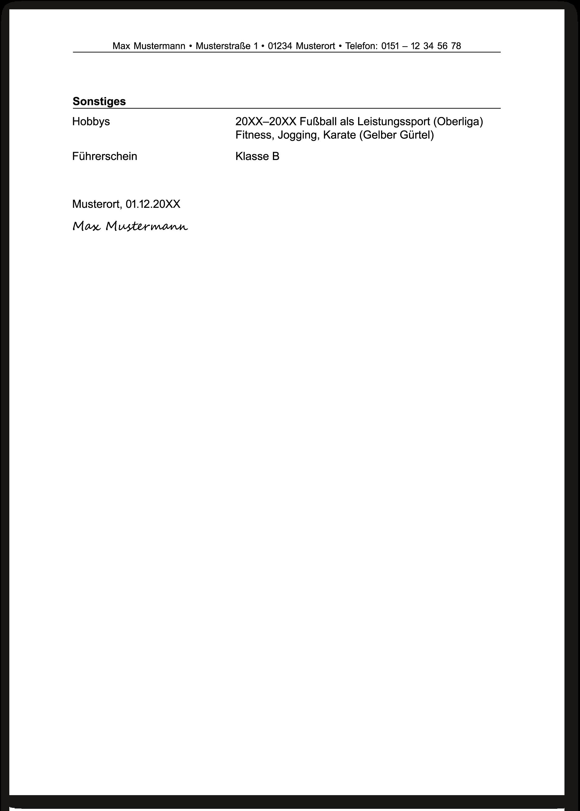 Die Bewerbung Bei Der Bundeswehr Der Lebenslauf Die Ausbildung